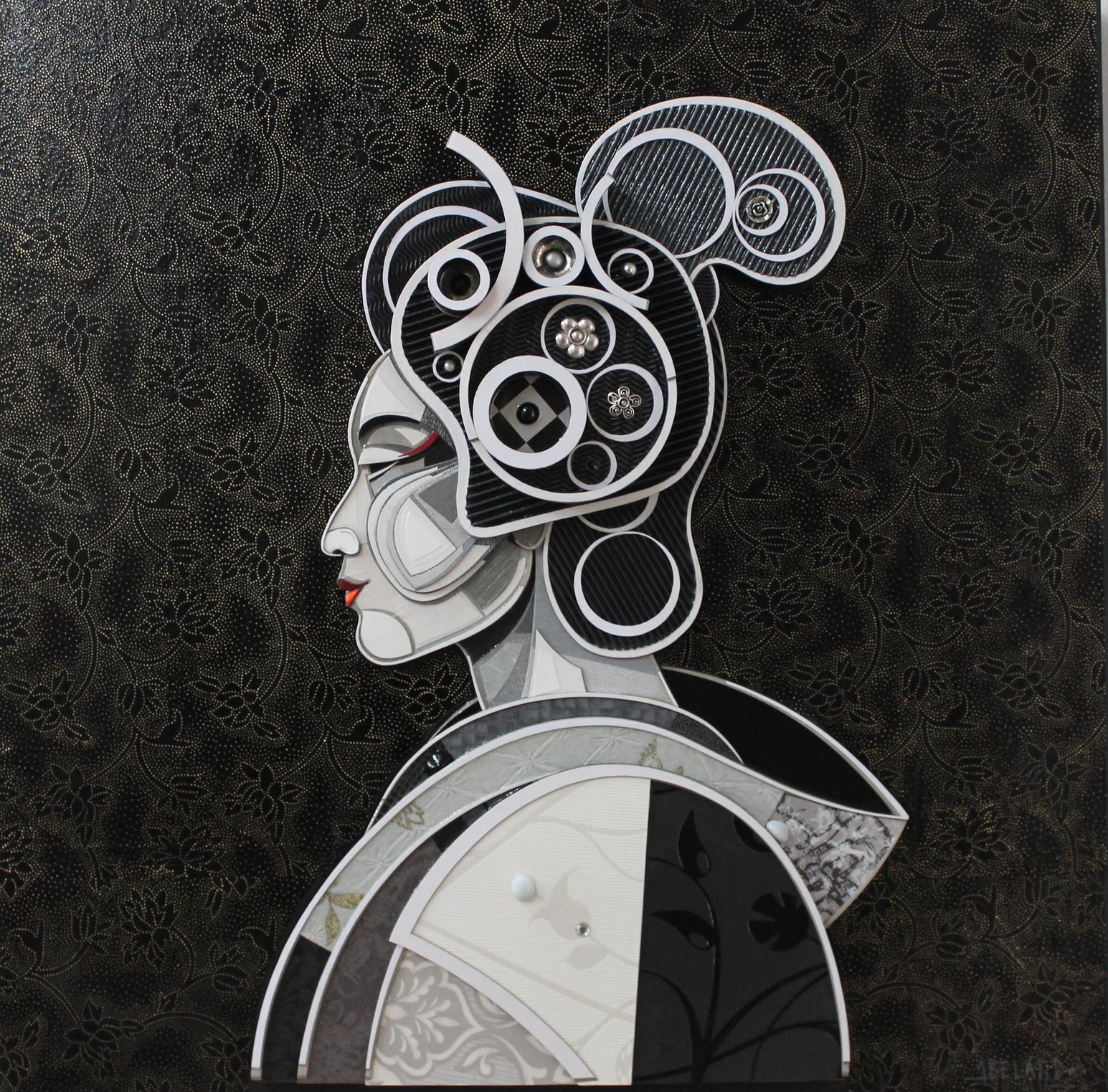"""""""Perfil de Geisha"""" / """"Geisha Profil""""   Mixed Media   100 cm x 100 c  m   2016"""