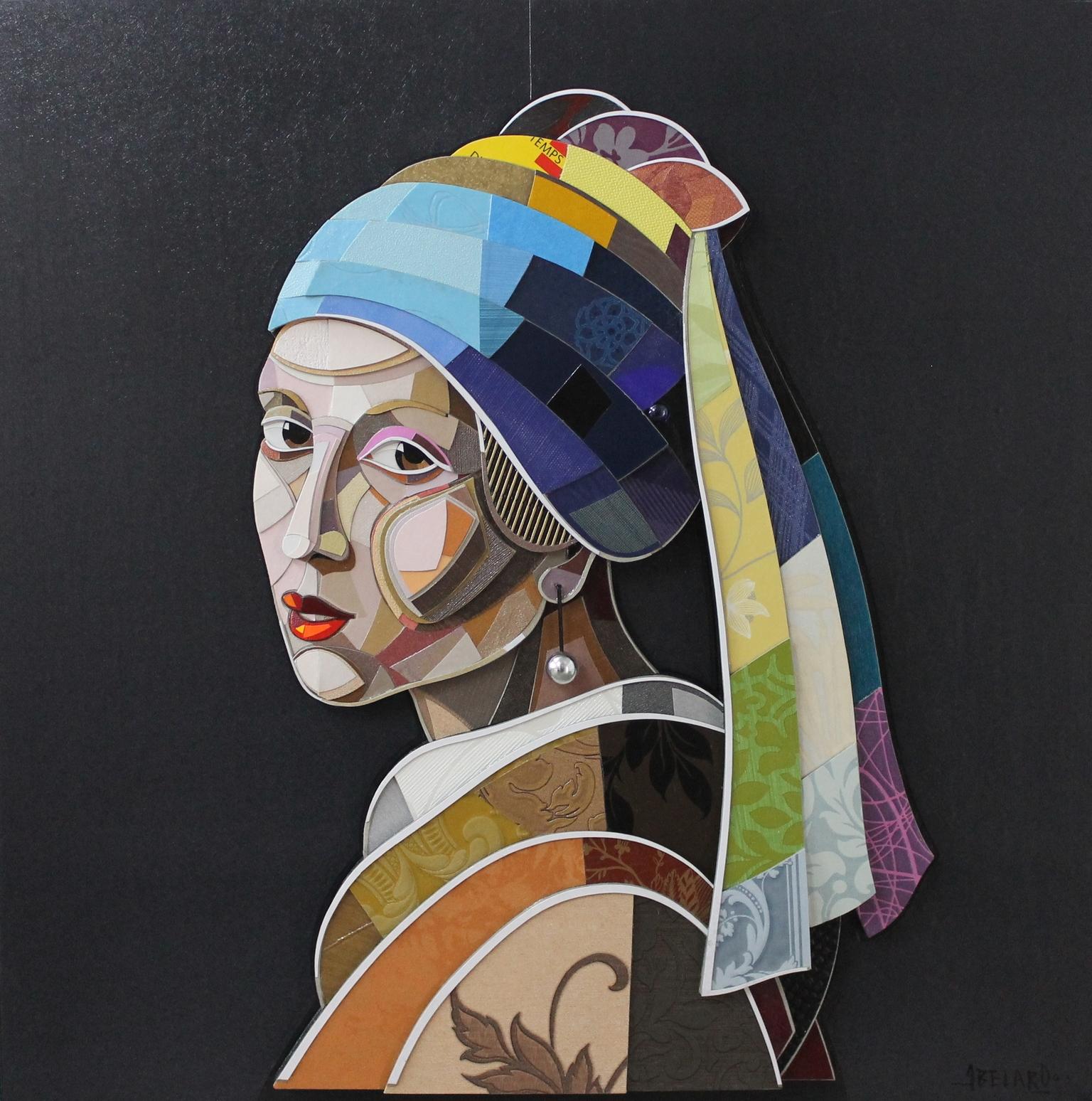 """""""Joven De La Perla"""" / """" Girl with a Pearl Earring""""  Mixed Media   100 cm x 100 c  m   2016"""