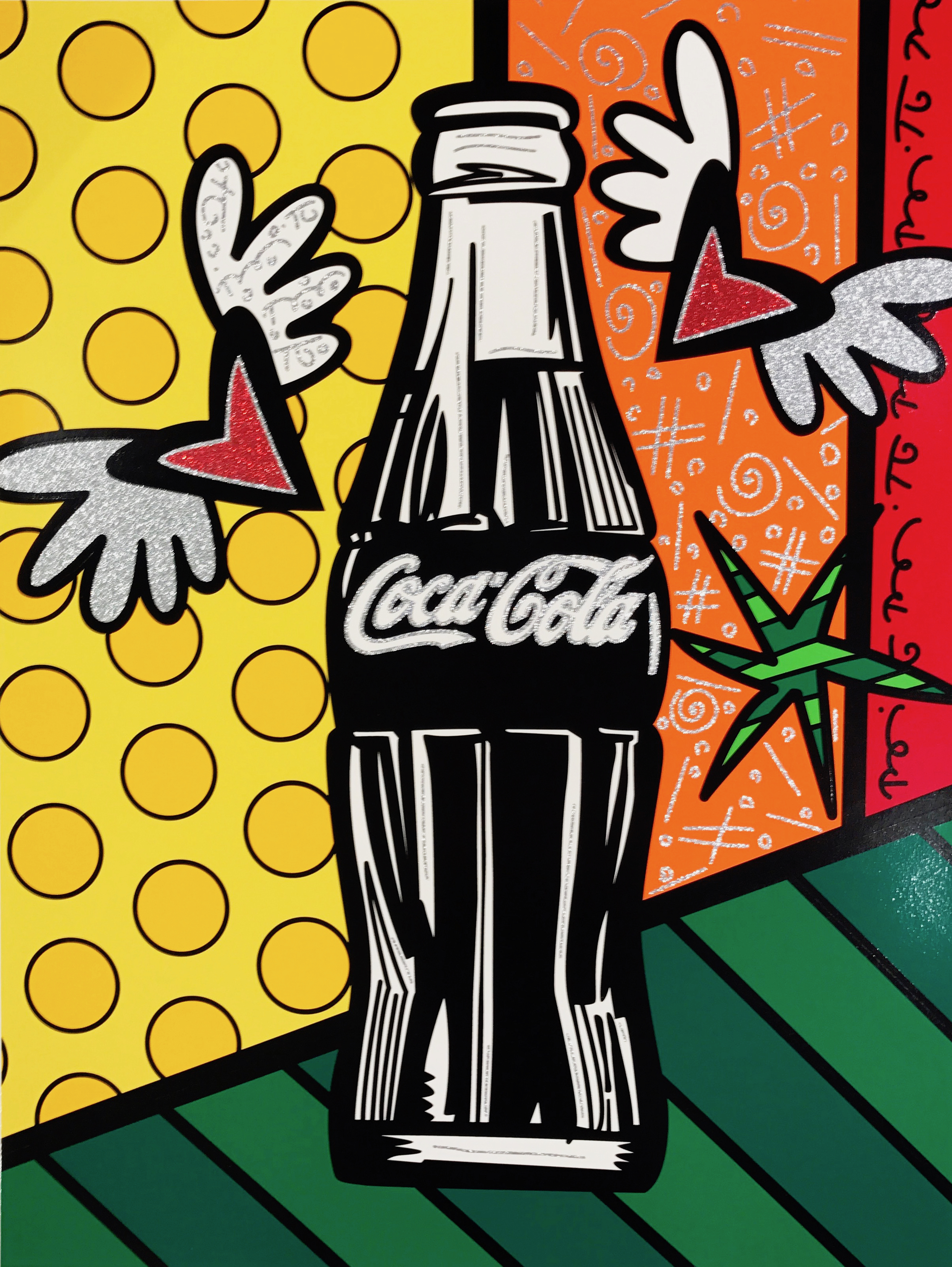 """""""Coca-Cola V - Happiness"""" Serigraph, Limited edition, No. 10 of 100 101.6 x76.2 cm 2016"""