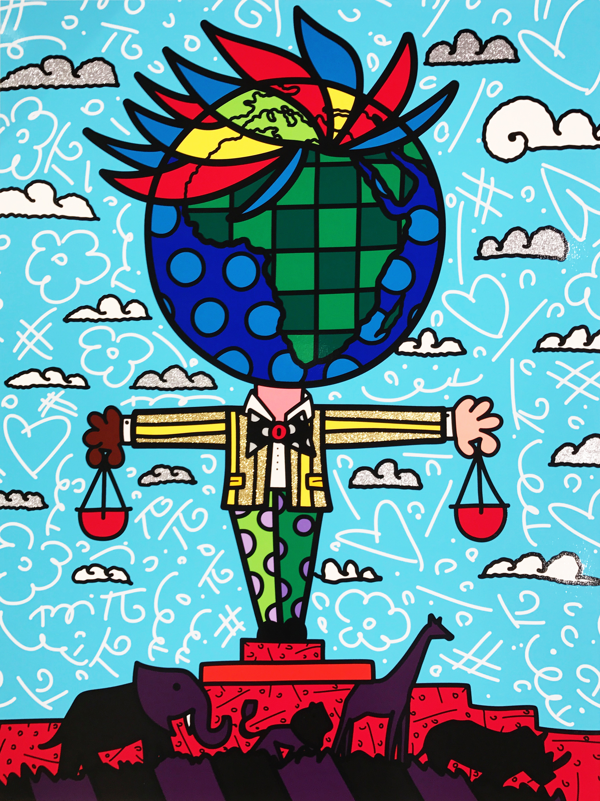 """""""Globe Generation Series – Africa"""" Serigraph, Limited edition, No. 27 of 50 101.6 x76.2 cm 2015"""