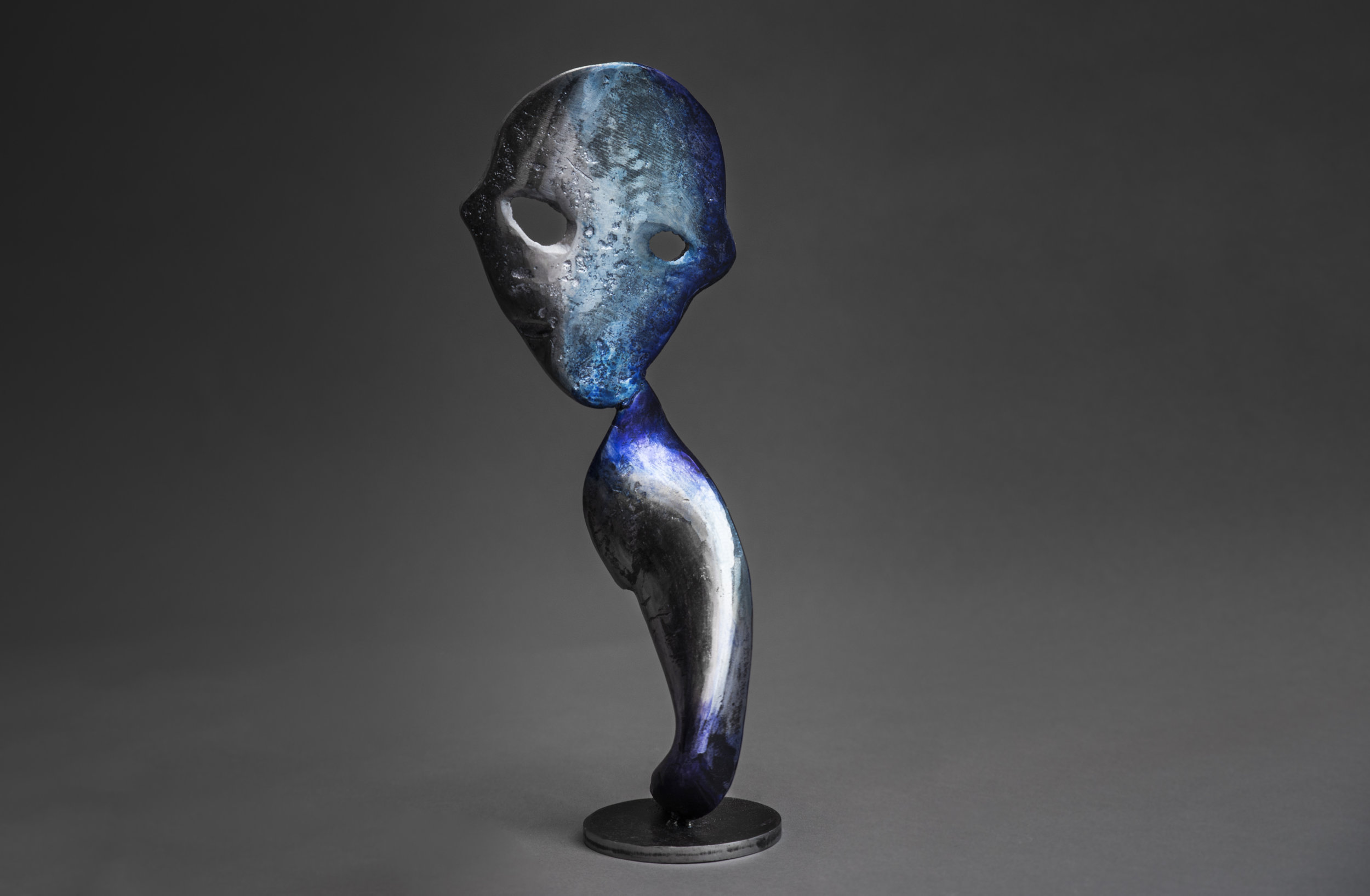 """""""Blue Hour"""" Patinated Steel 39 x 16 x 10 cm 2017"""