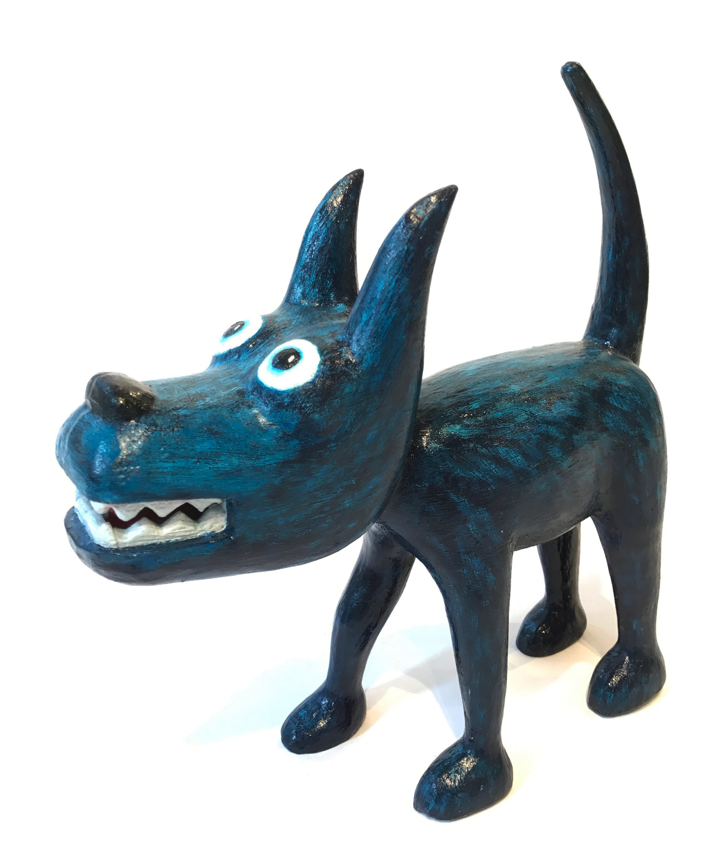 """Dog 4"" Sculpture, unique item 27 x 24 x 9 cm 2010"