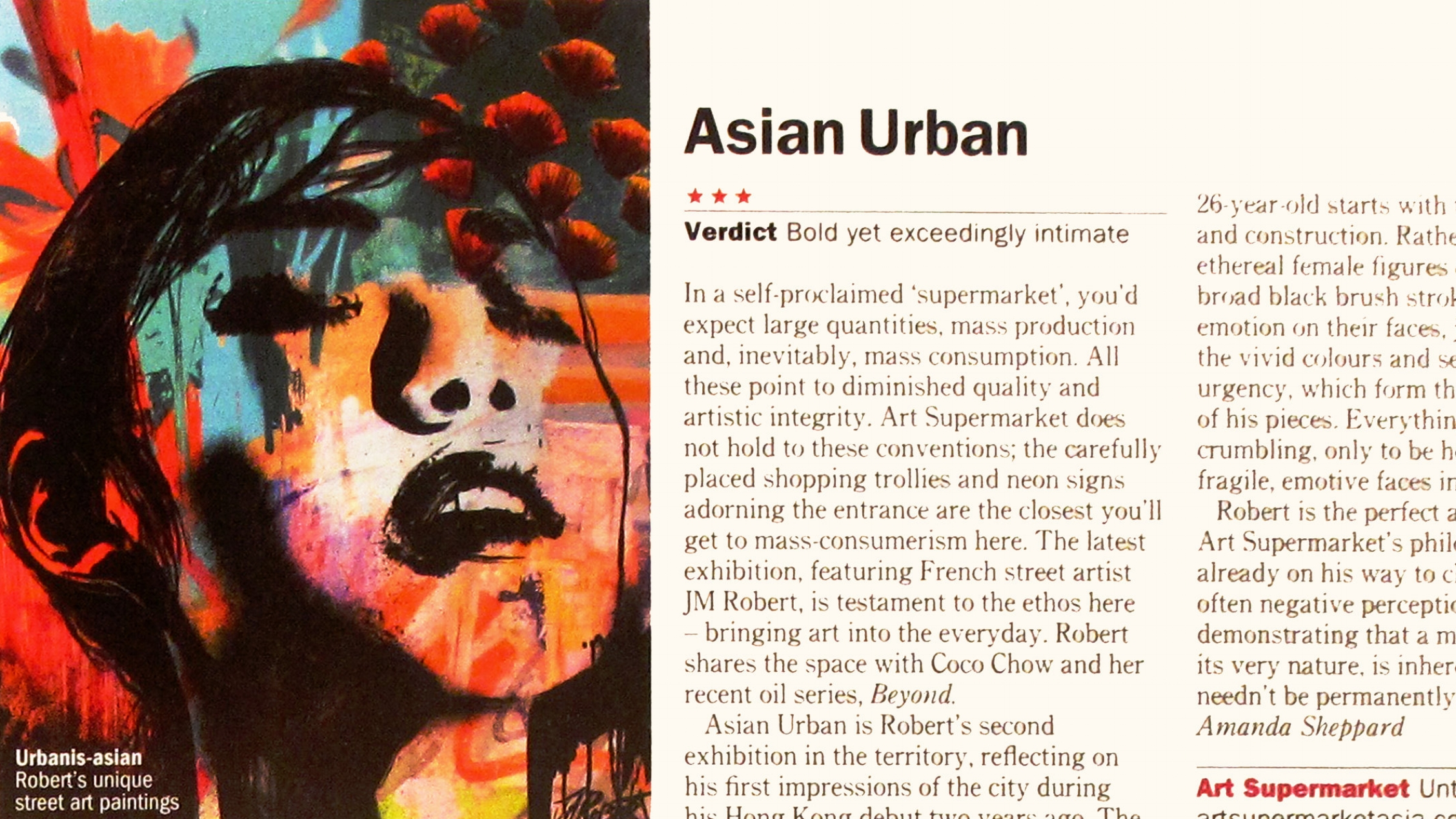 ">> 3 June 2015: ""Urban Asian"" Exhibition by emerging French Artist JM Robert at Art Supermarket in ""TimeOut"" Magazine"