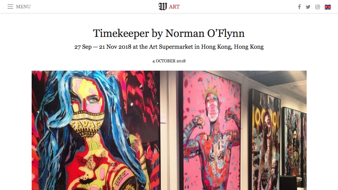 ">> 3 Oct 2018: ""Timekepper by Norman O'Flynn"" in Wsimag Art"