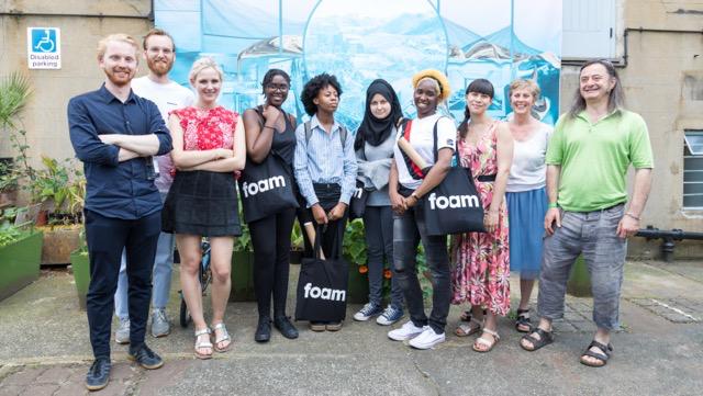 Day 5 - L-R:  Foam Photografiemuseum Amsterdam  staff, Chloe Carroll (Beaconsfield volunteer), Niambi, Yasmin, Sabria, Abondance (participants), Shan (Teen Tours project facilitator), Naomi Siderfin (Co-founder Beaconsfield), David Crawforth (Co-founder Beaconsfield)