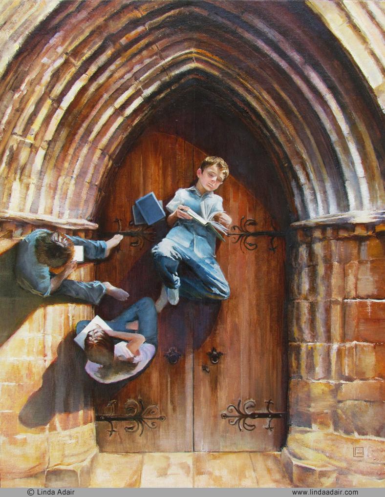 """Doorway To Adventures, 16""""x20"""", oil on canvas. Sold"""
