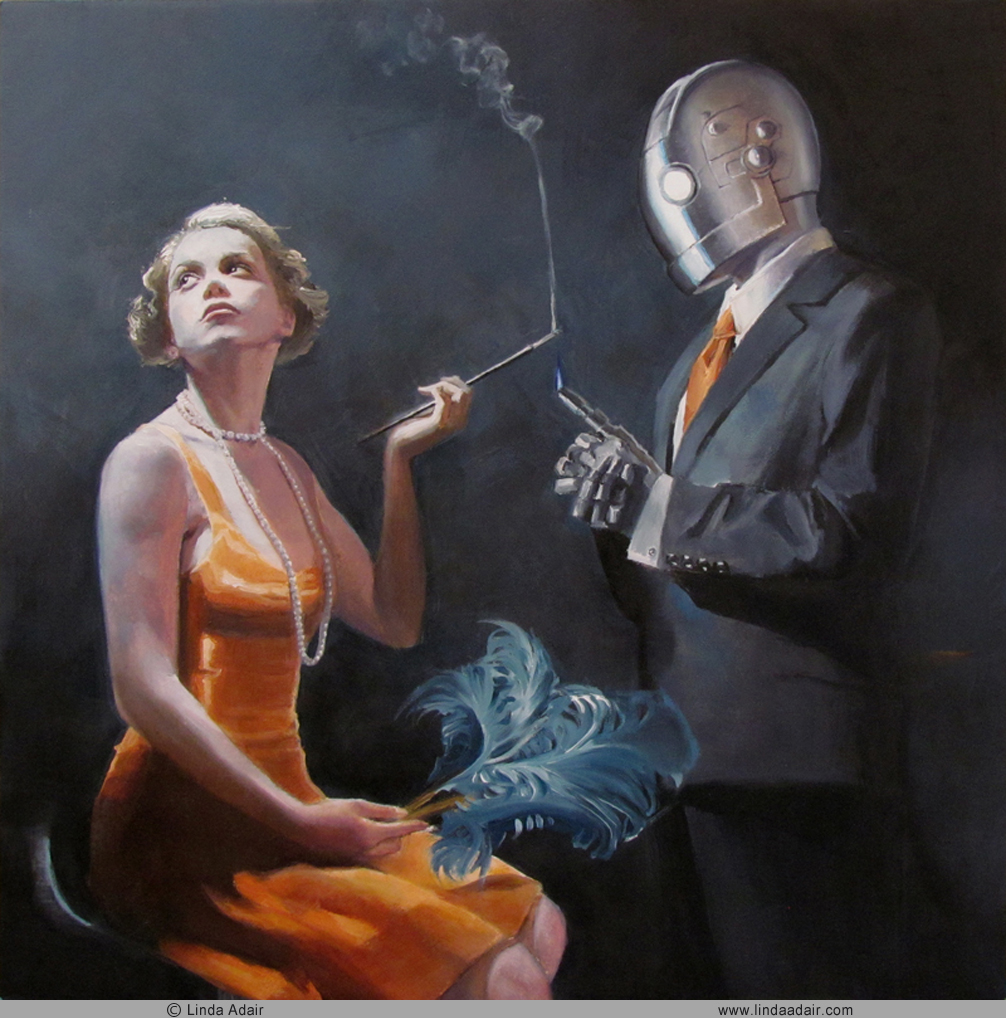 """The Constant Man - 1920, 10""""x 10"""", oil on panel. Sold"""