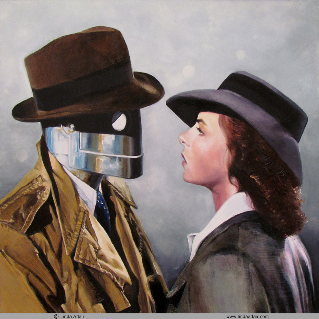 """The Constant Man - 1940, 10""""x10"""", oil on panel. Sold"""