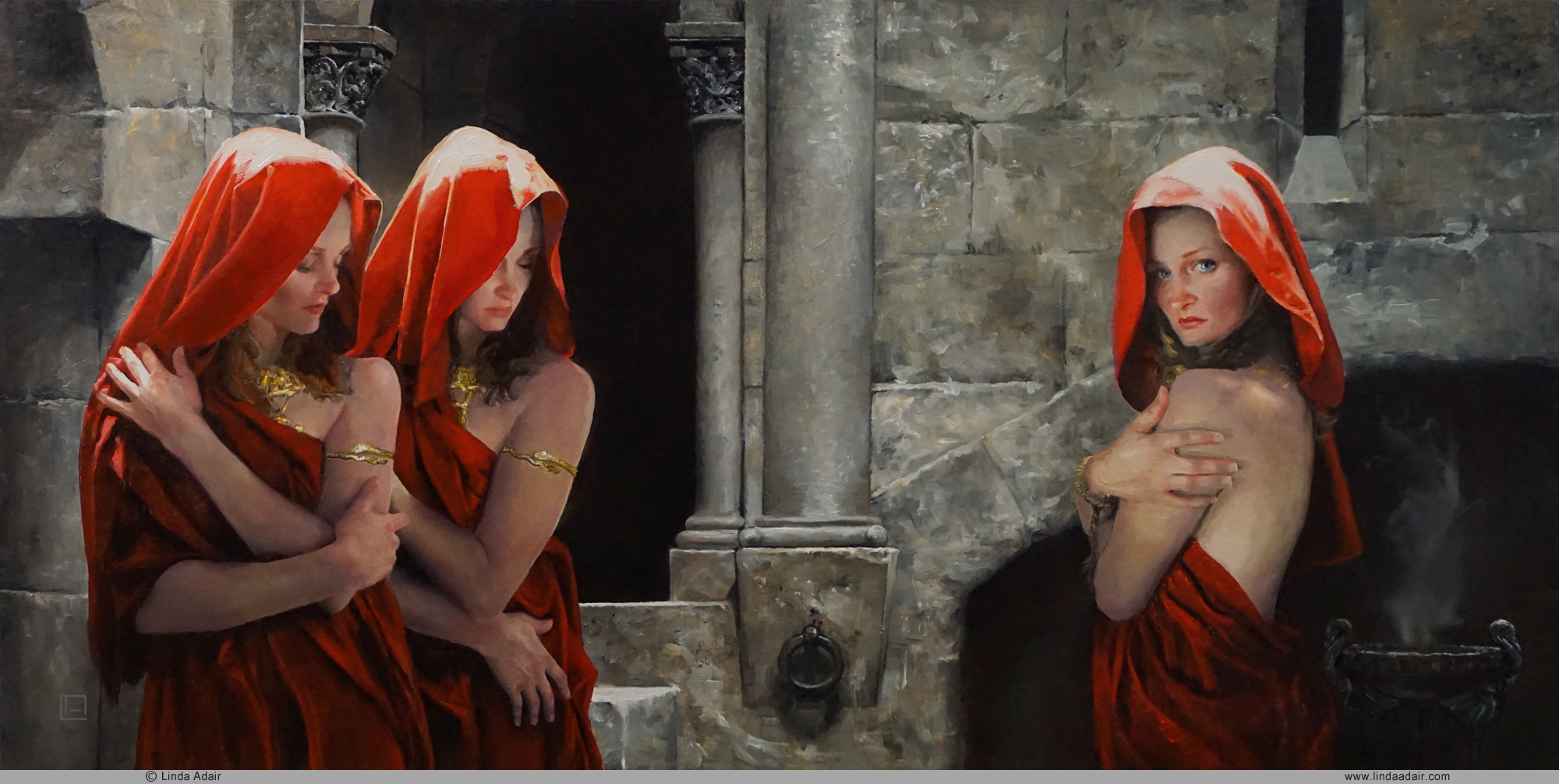 "Anathema, 24""x12"", oil on panel. Sold"