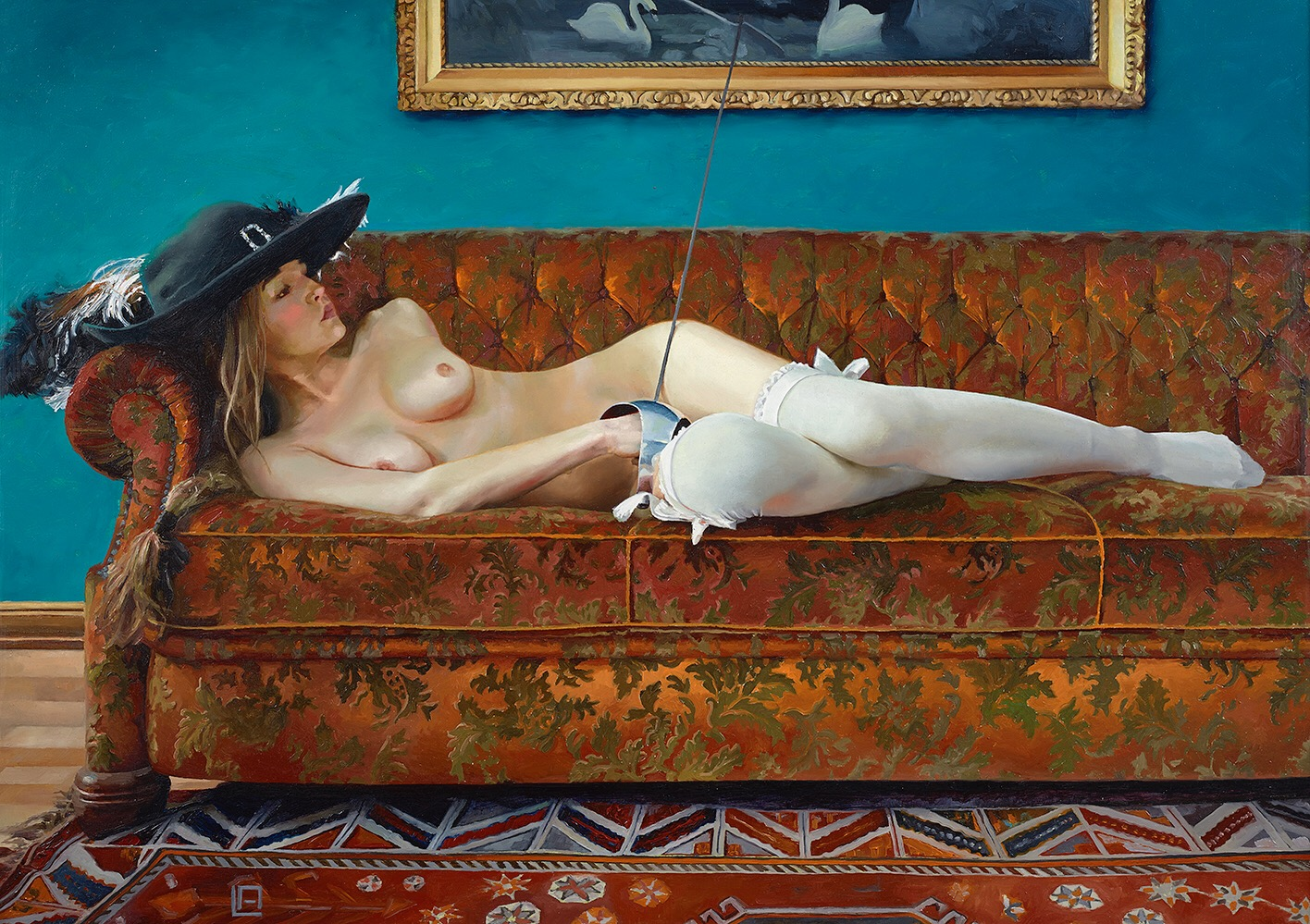 La Maupin, 27.5 x 19.7 inches, oil on panel  Sold