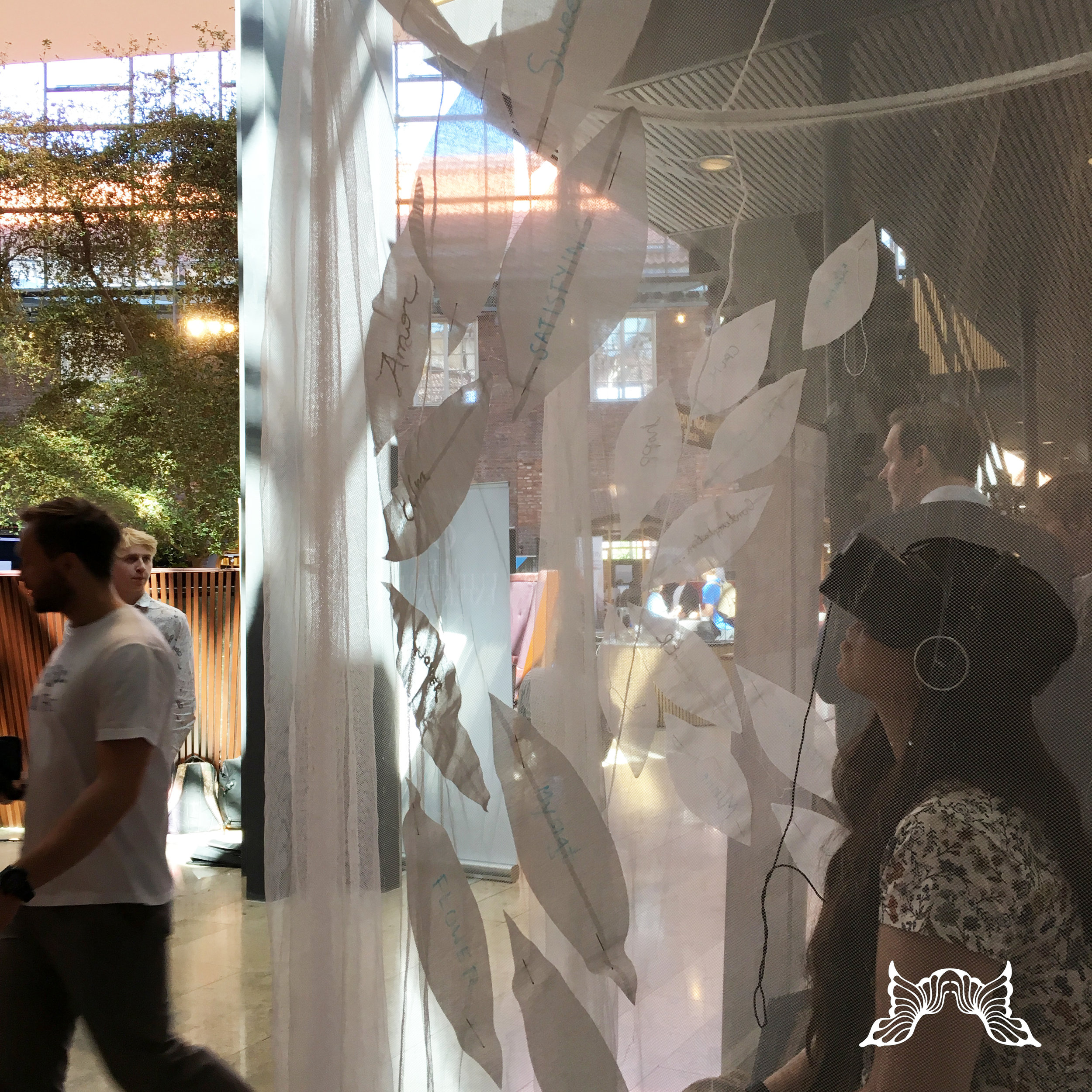 The Garden of Thoughts (small version) at VR Sci Fest, KTH (Royal Institute of Technology), Stockholm, May 18th, 2018. © Pernilla Belfrage