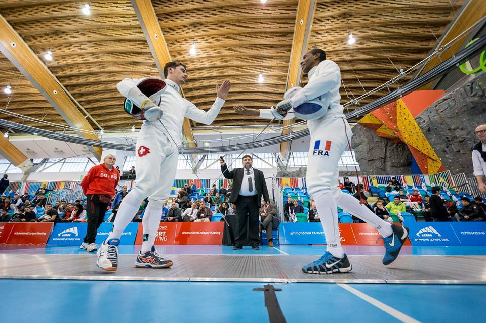 Fabian Kauter - Ivan Trevejo (FRA), 15:5, 64er Tableau. (Foto: Devin Manky Photography. Thank you Swiss Fencing!)