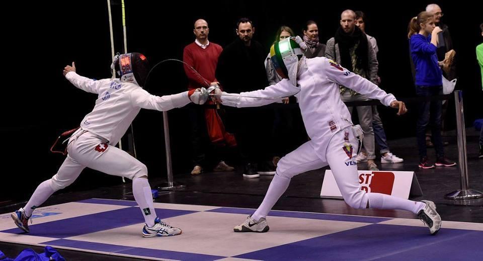 Fabian Kauter (links) und Silvio Fernandez (VEN). (Foto: Augusto Bizzi/FIE)