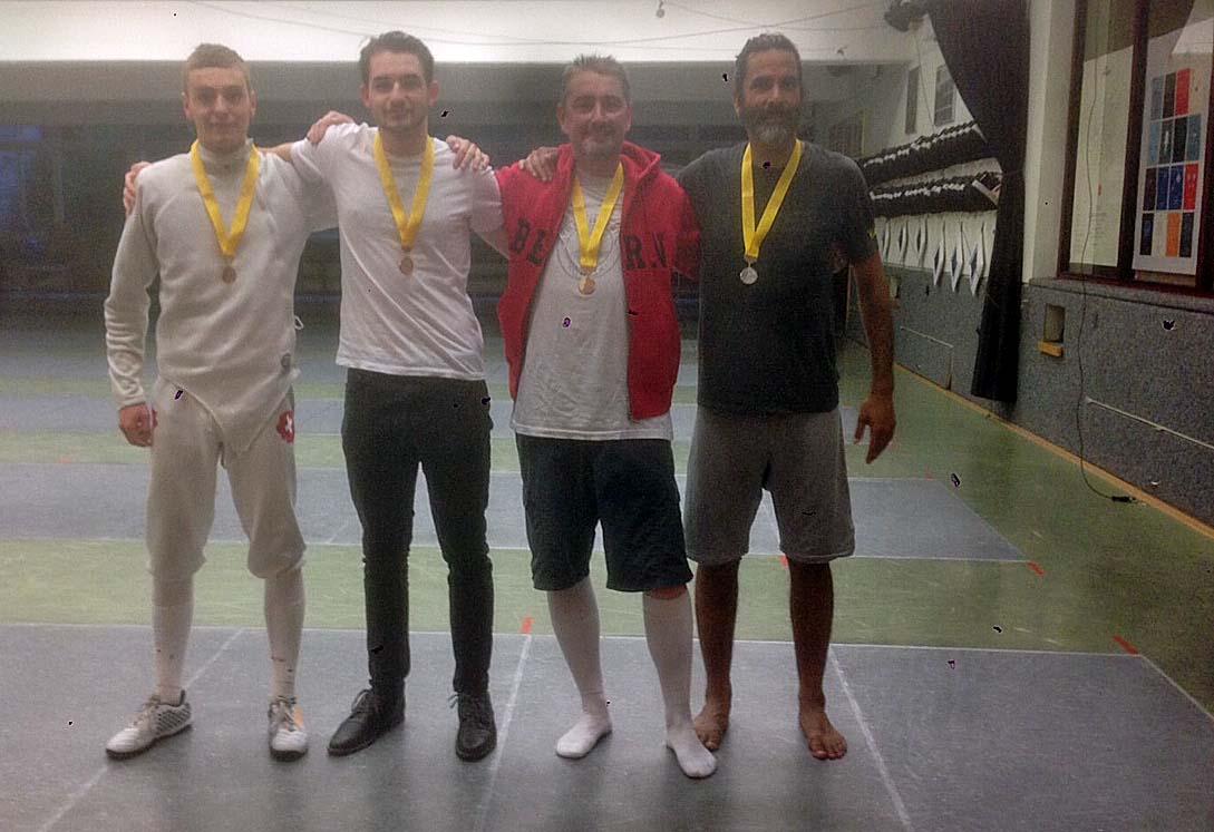 Die Sieger von Bern (von links nach rechts): Fabian Broger, Lorin Criblez, Christoph Fuhrmann, Diego Spörri. (Foto: FCB)