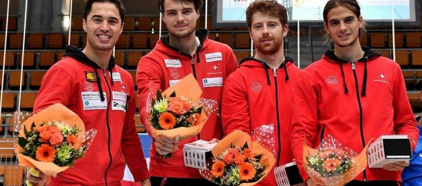 Überzeugendes Debüt der Schweizer Mannschaft in neuer Zusammensetzung: 2. Platz für Max Heinzer, Peer Borsky, Georg Kuhn und Michele Niggeler am GP in Bern. (Foto: Augusto Bizzi)
