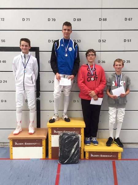 3. Platz für Yann Kjelsen vom Fechtclub Bern