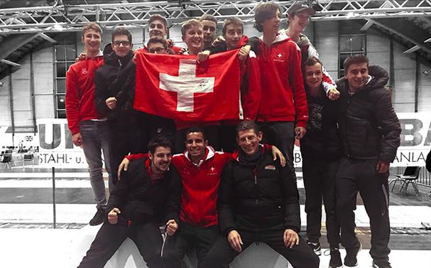 Die Schweizer Mannschaft in Klagenfurt. (Foto: Via Swiss Fencing)