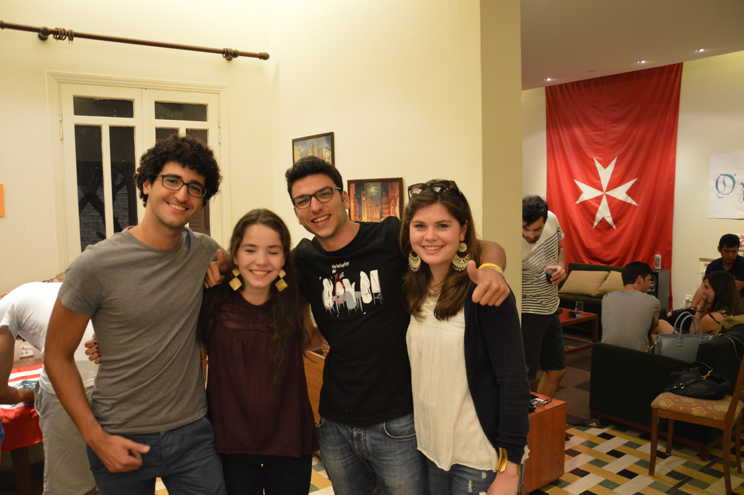 The team easily makes friends among other young people Lebanon and the international family of the Order of Malta. Beirut is an exciting city full of life and will become their hometown for the coming year.