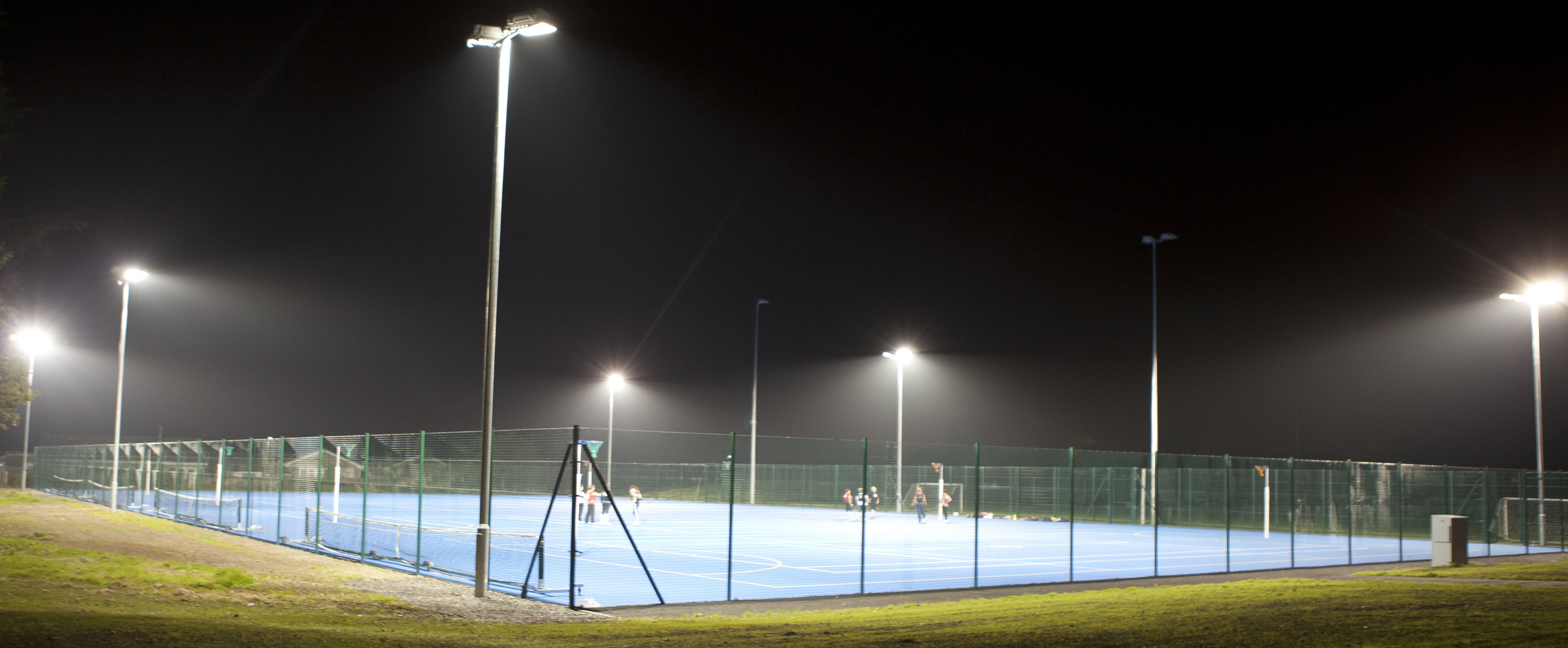 4 floodlit Netball courts and Tennis courts