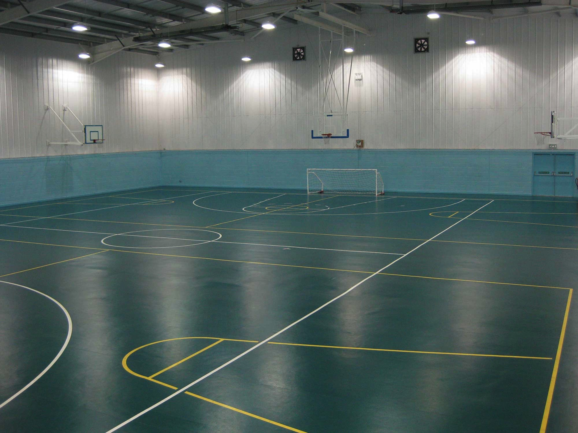 4 badminton court sized sports hall (demo picture)