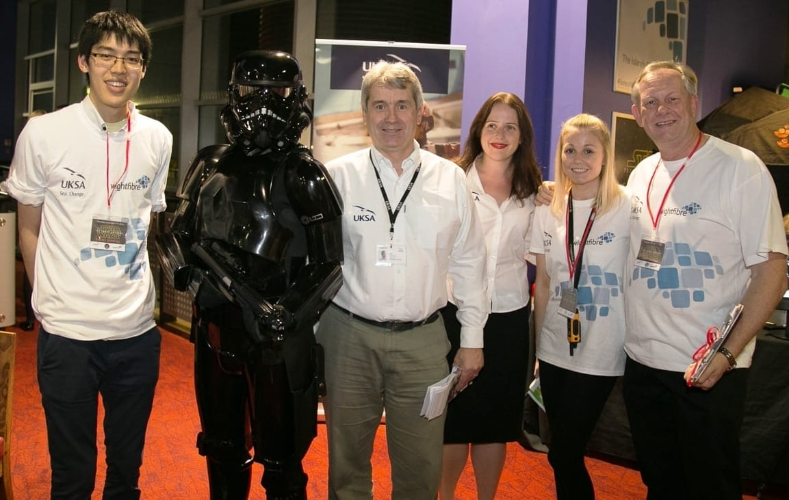 Our clothing supports events including the Star Wars 'The Force Awakens' charity screening hosted by WightFibre on behalf of UKSA.