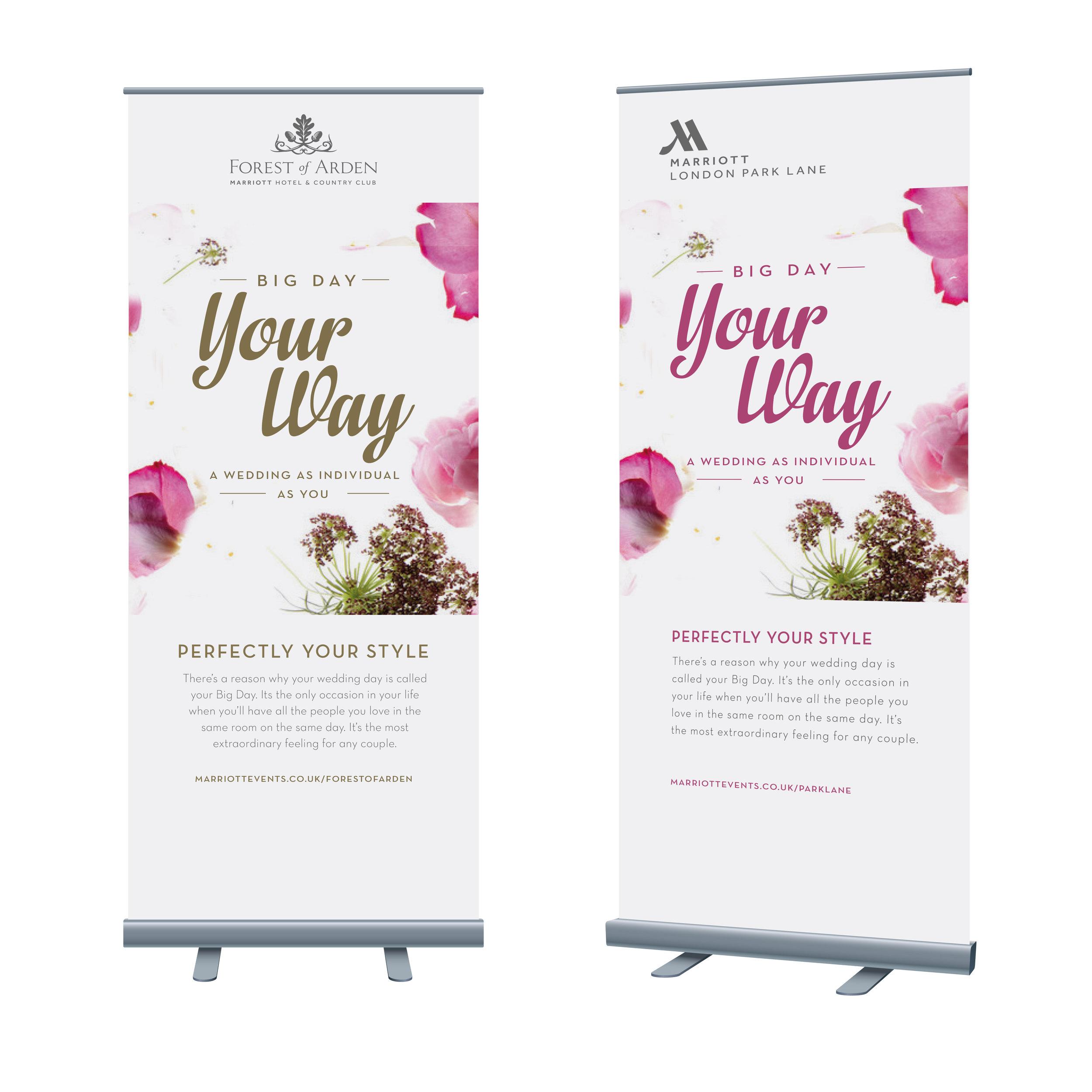 Cactus Design Wedding Banner