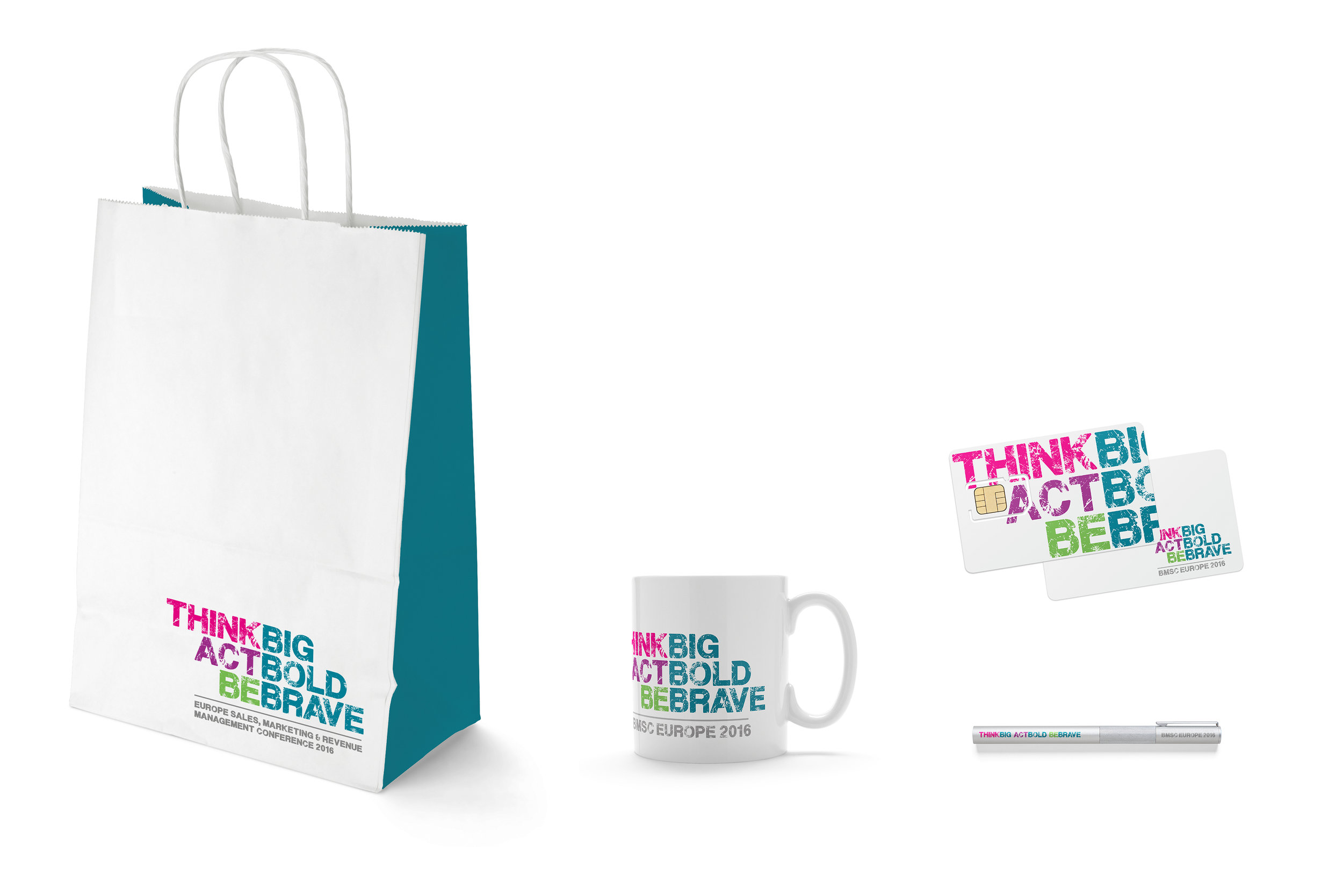 Cactus Design Studio Conference Branding Bag mug cart pen