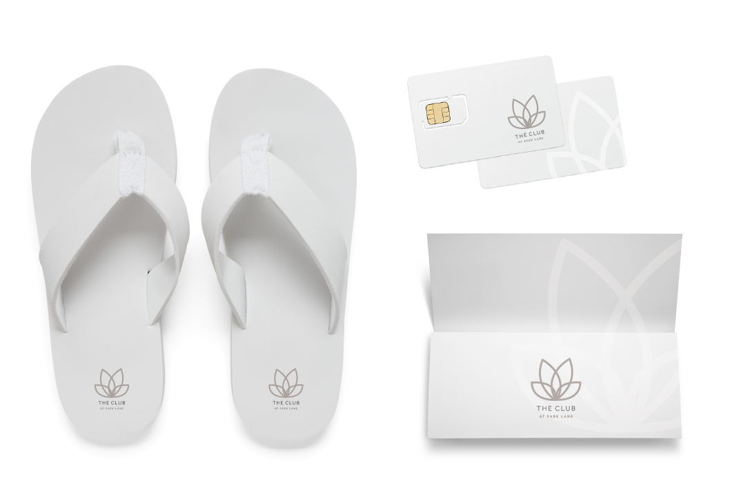 Park Lane Spa Branding Card Flip Flops Design