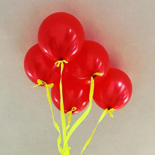 Balloontastic! #5thbirthday #balloons #red