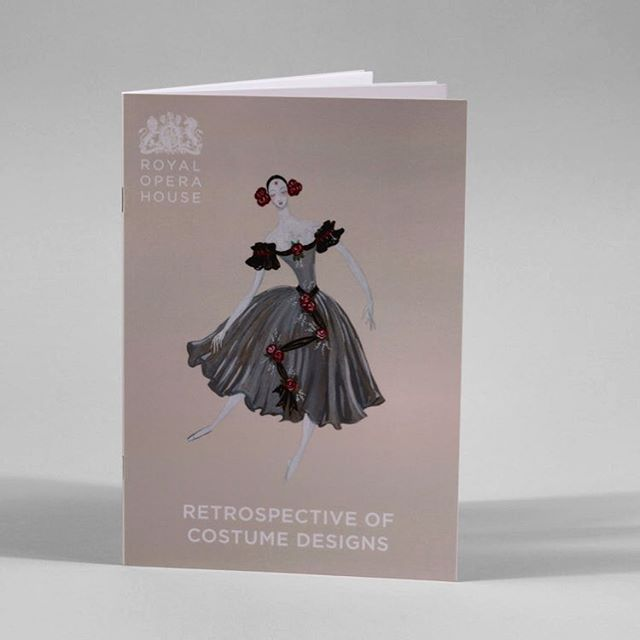 Delighted to see booklet in print for @royaloperahouse Go and see the drawings it the balcony level. Open every day from 10am. #costumedesign