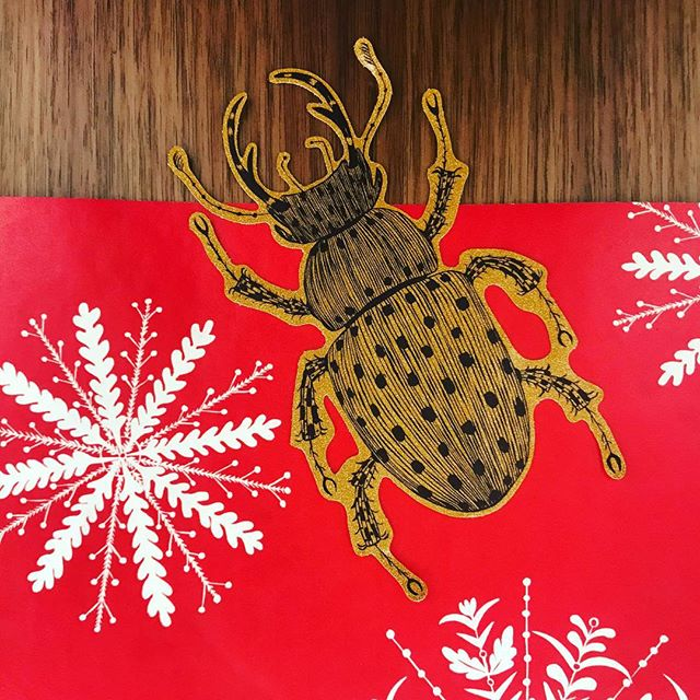 Bugs escaping at royal opera house #christmas decorations. Open this weekend. Installed overnight collaboration with @royaloperahouse @skellonstudio and Ellie Curtis illustration