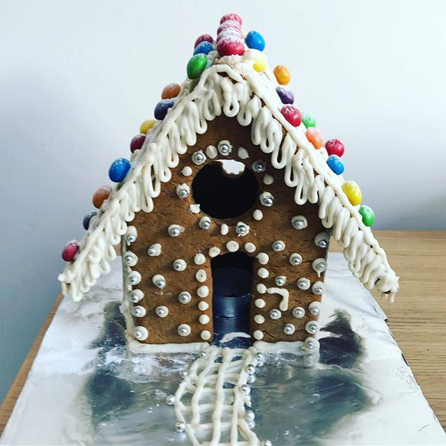 Miles made a #gingerbread house for #Christmas #cooking