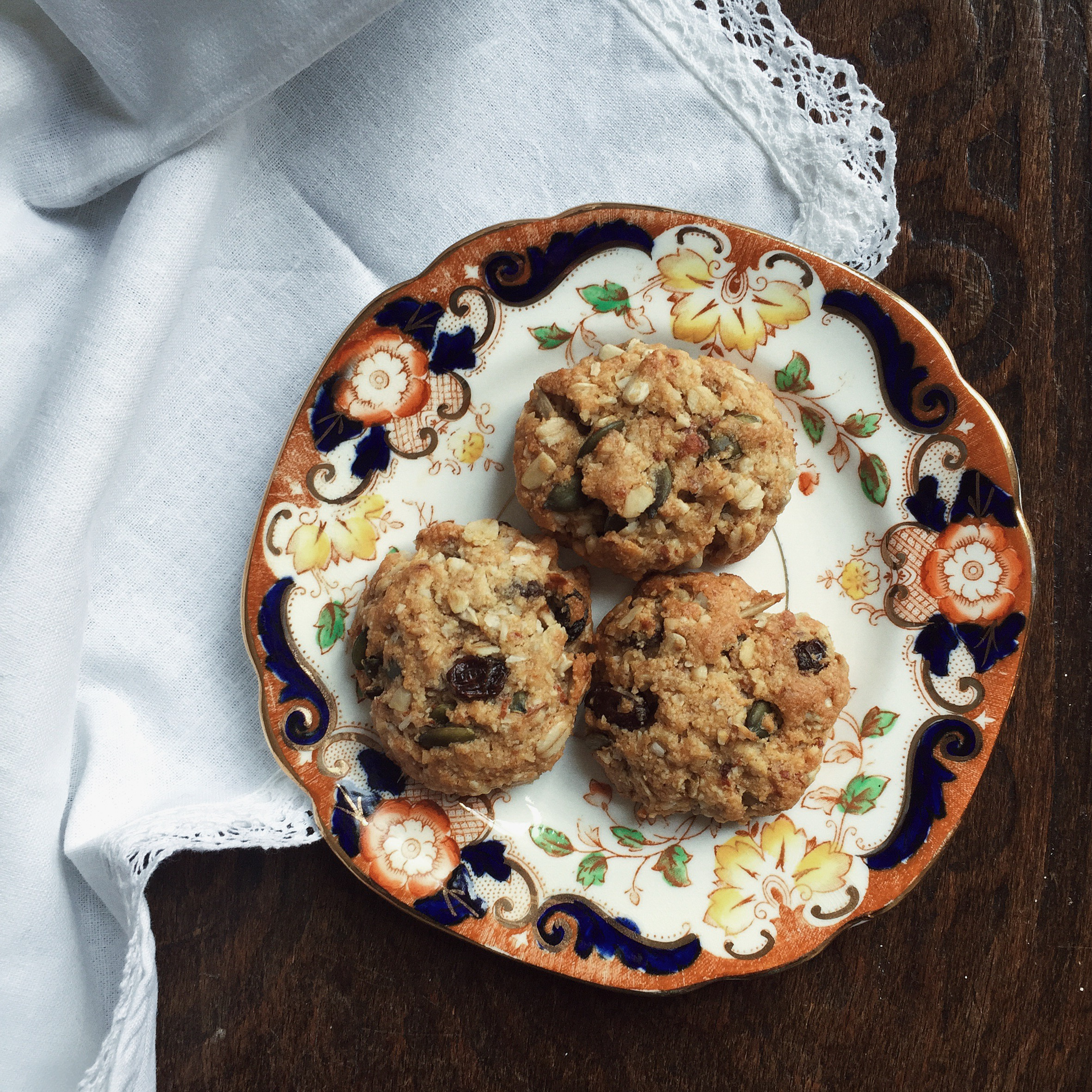 ANZAC nut pulp biscuits - The Teapot Explodes