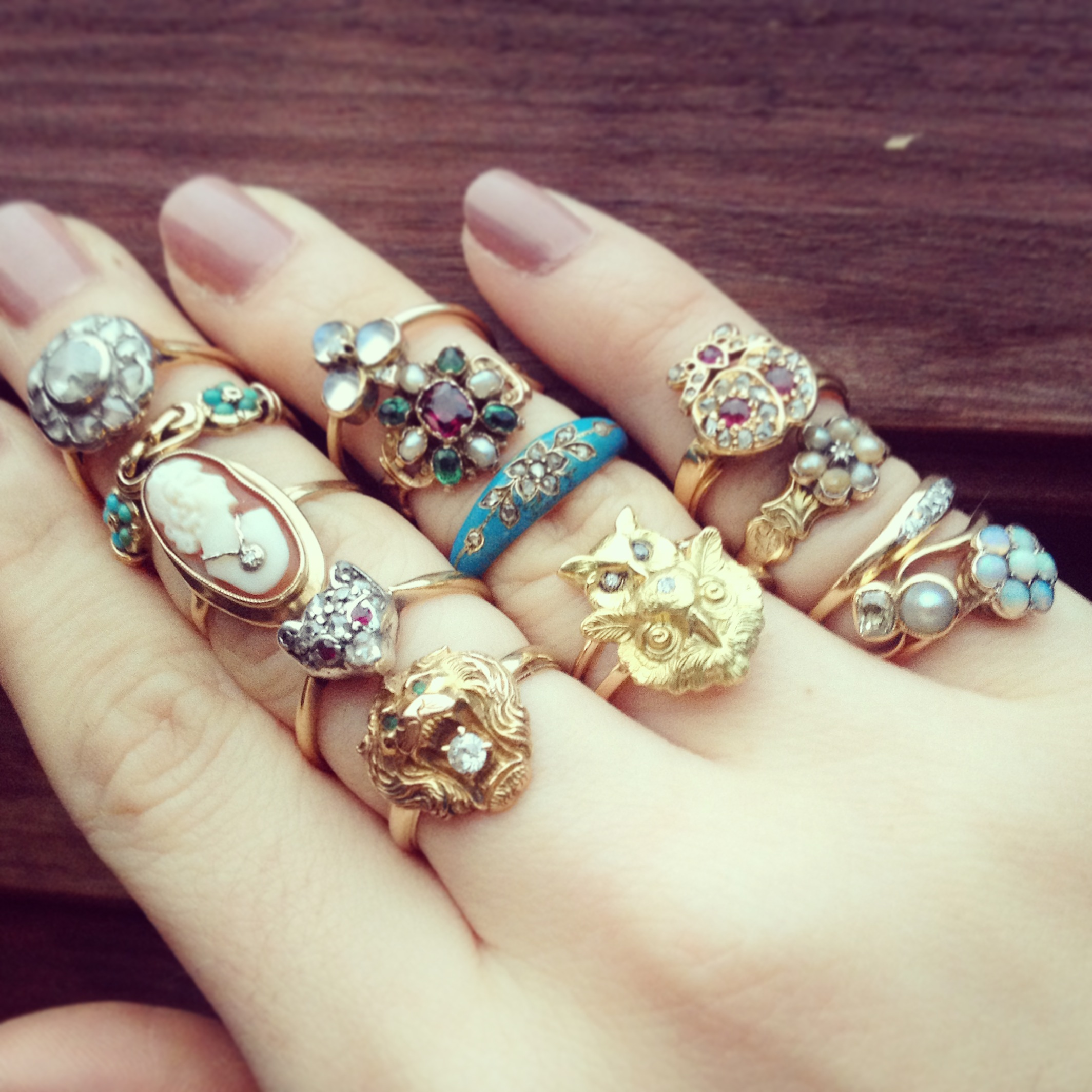 The modern collector: Kate's ring stack