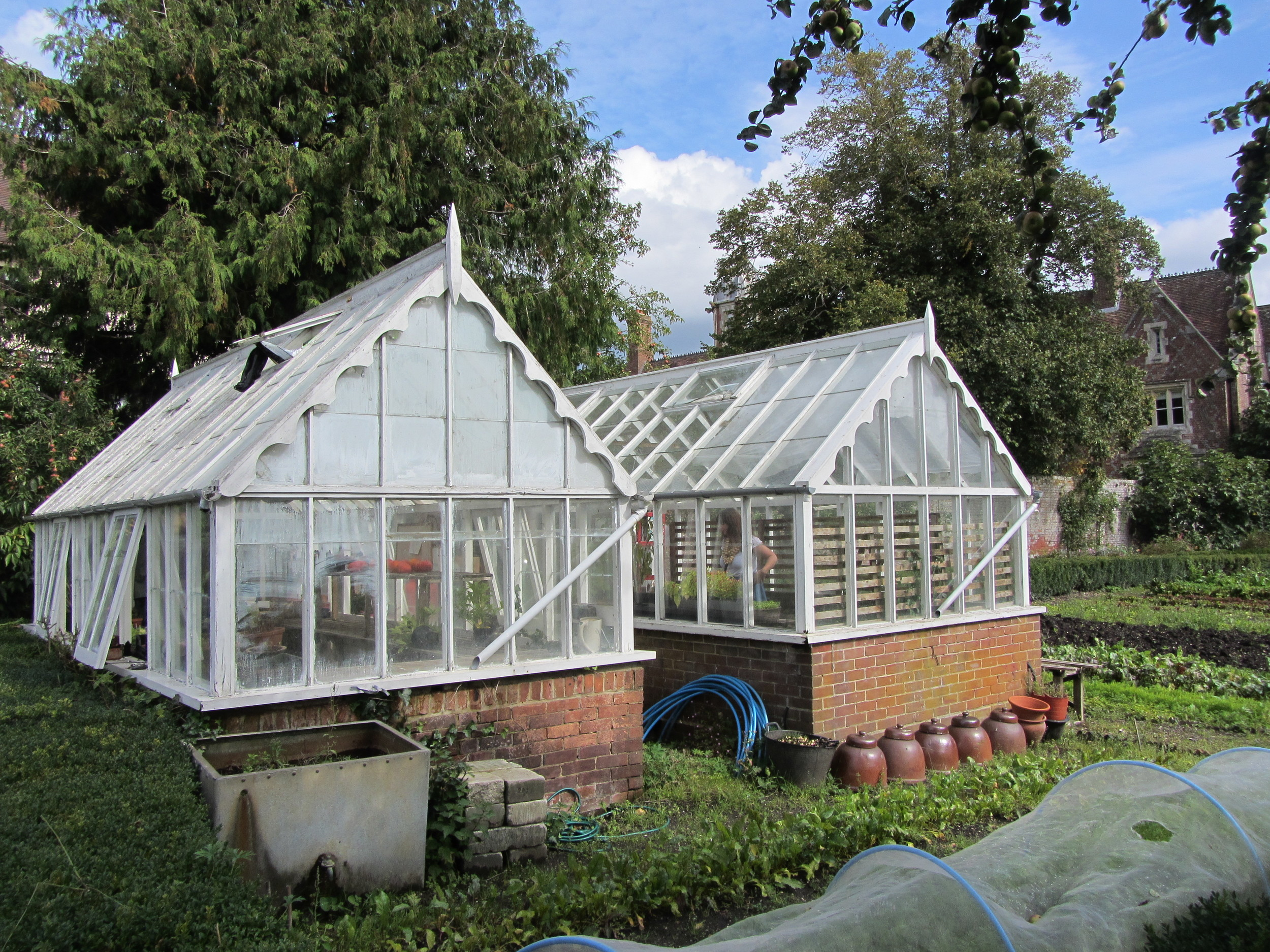 Greenhouses at Deans Court, Dorset
