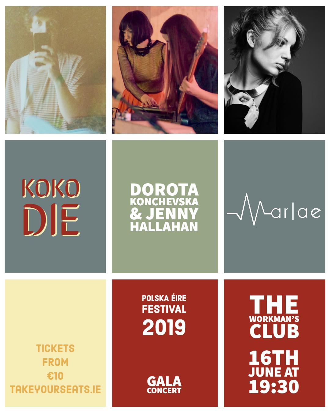 KOKO DIE, Marlae, Dorota Konchevska & Jenny Hallahan in SpaceTime Continuum - PolskaÉire Festival 2019 Gala Concert