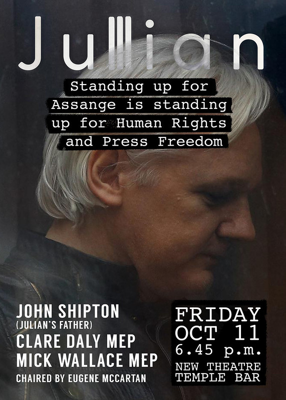 Public Meeting Julian Assange - Clare Daly MEP | Mick Wallace MEP chaired by Eugene McCartan