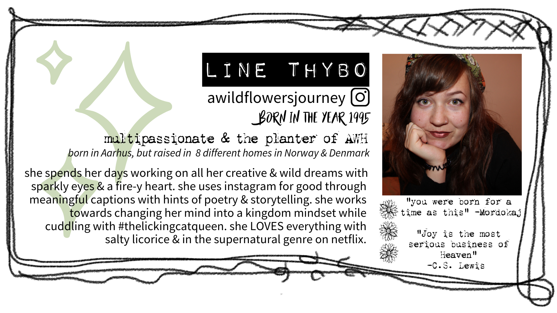 A Wildflowers Home // Line Thybo Visitkort // awildflowersjourney // AWH