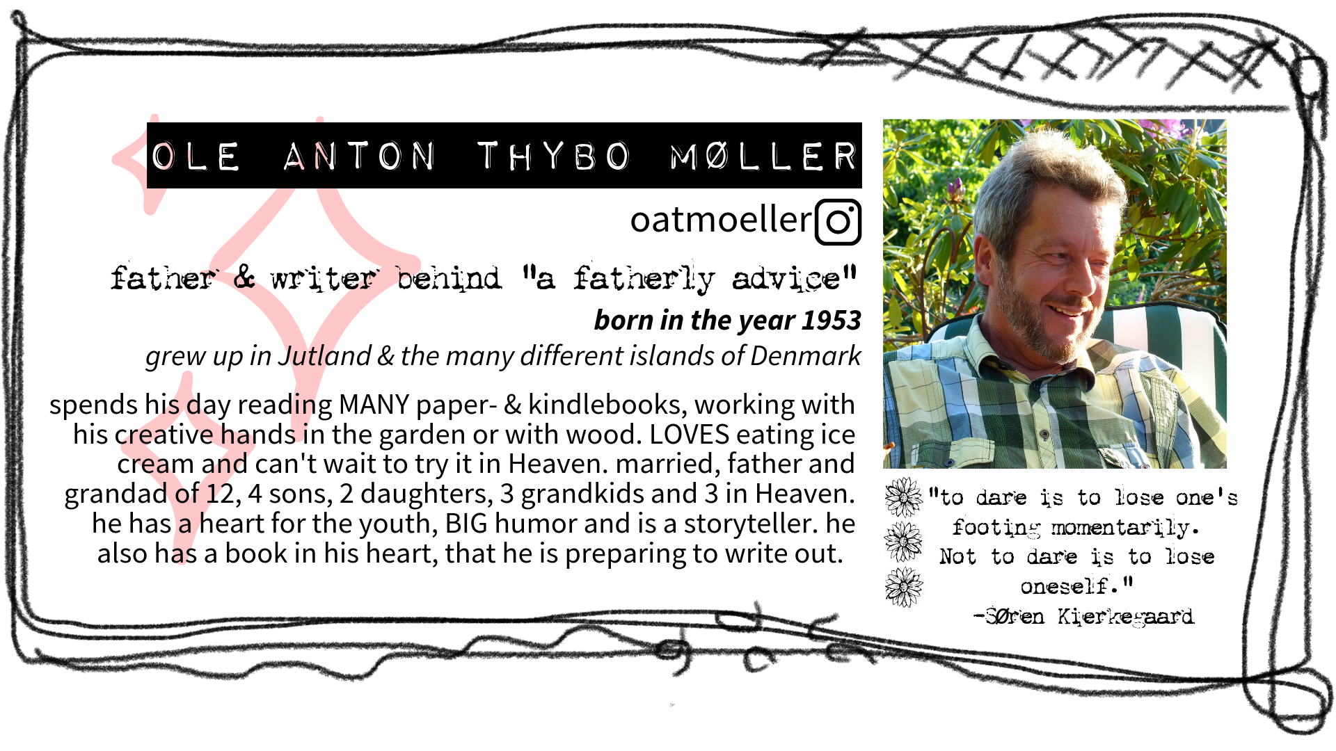 A Wildflowers Home Journal // A fatherly advice // Ole Anton Thybo Møller