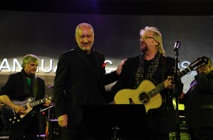"Pete Townshend and David perform ""Open The Door"" - Jan. 2013 for Pete's Les Paul Lifetime Achievement at TEC Awards-NAMM show"