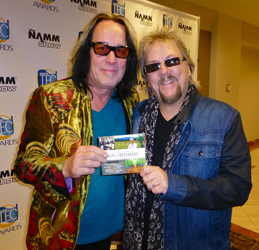 With long-time friend-wizard Todd Rundgren.