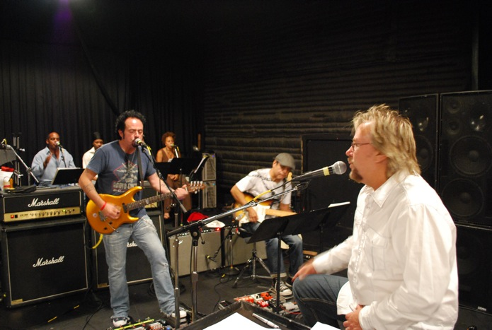 With Steve Lukather rehearsing for Greek Theater benefit show