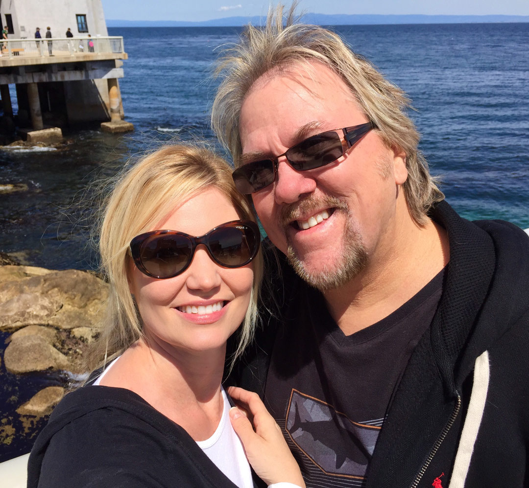 With Wife Stacey Groovin' in Monterey