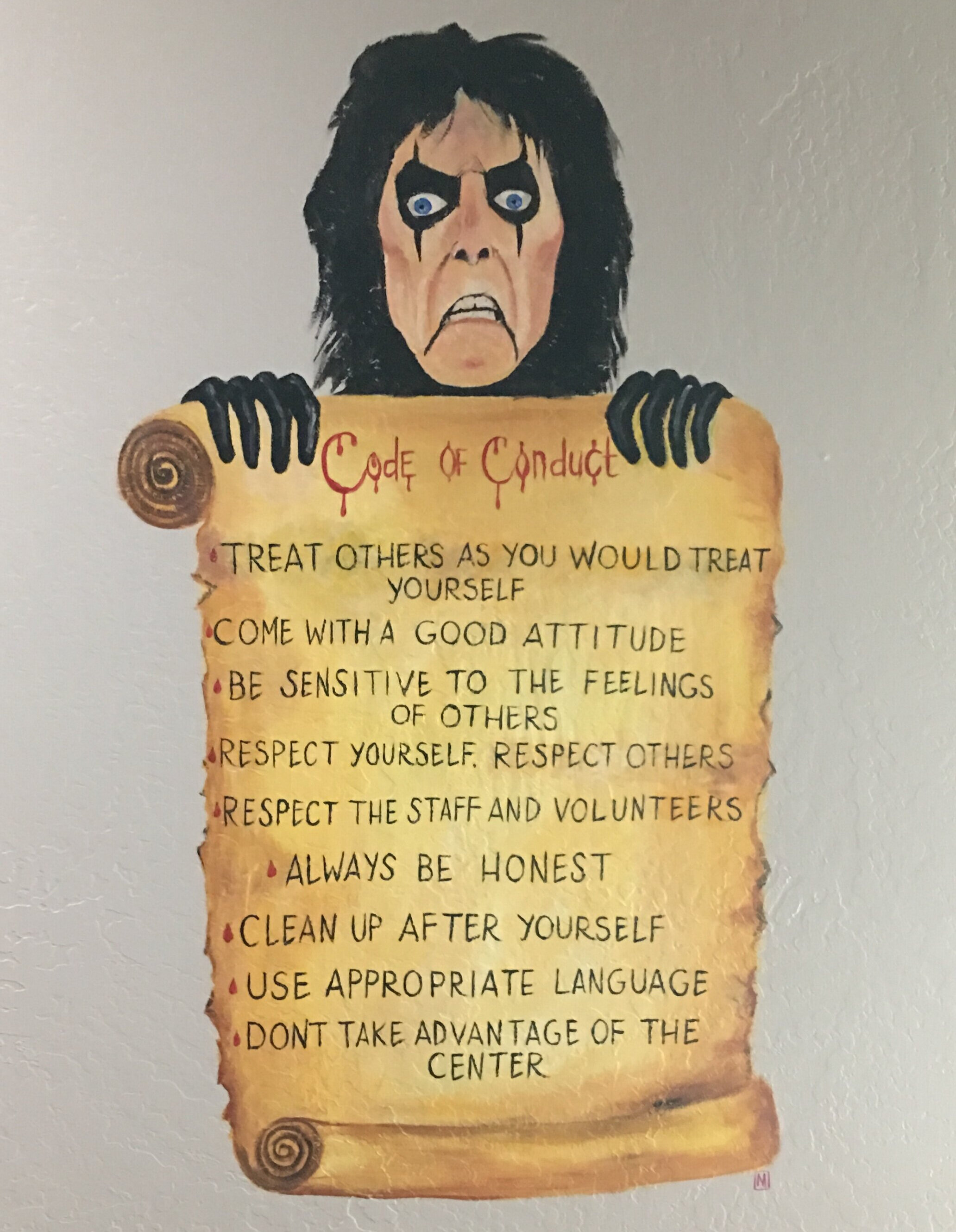Rules Posted at Alice Cooper Solid Rock Teen Center, Phoenix AZ