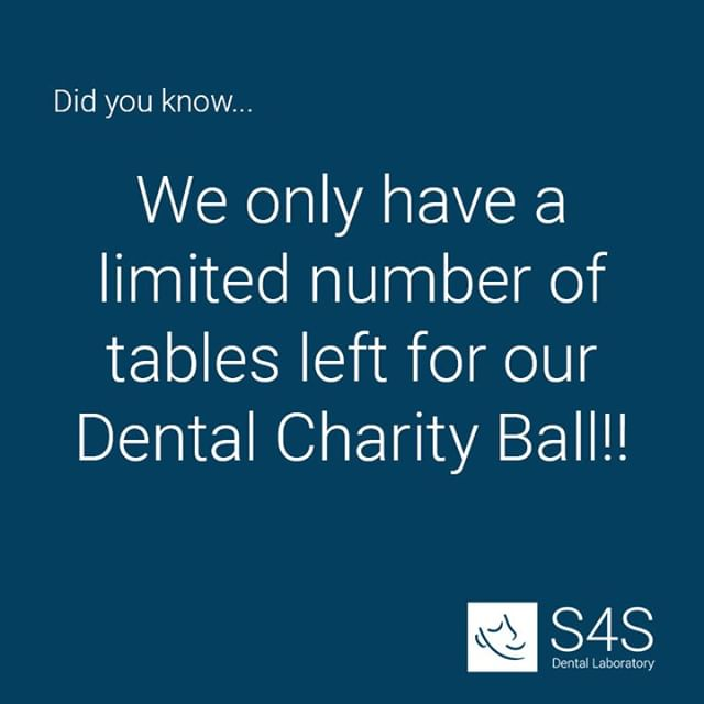 There are still our last remaining tables left for this year's Dental Charity Ball! Make sure you book to avoid disappointment! Click the link in our bio 👆🏼 for more information and to book! @thechildrenshospitalcharity