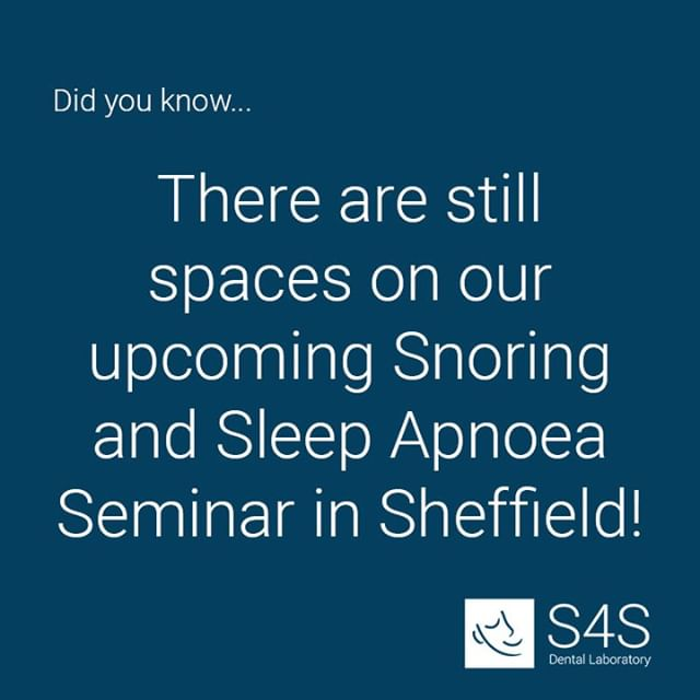 Book your place now (link in bio) and join us on Friday 20th September at our Lab in Sheffield!  This one day course offers: - Background knowledge of sleep related breathing disorders associated with snoring - Screening methods for assessing sleep breathing disorders in accordance with Dental Protection Ltd requirements - Clinical skills to prescribe Mandibular Advancement Appliances - Clinical review of Mandibular Advancement Splints - including the most effective!