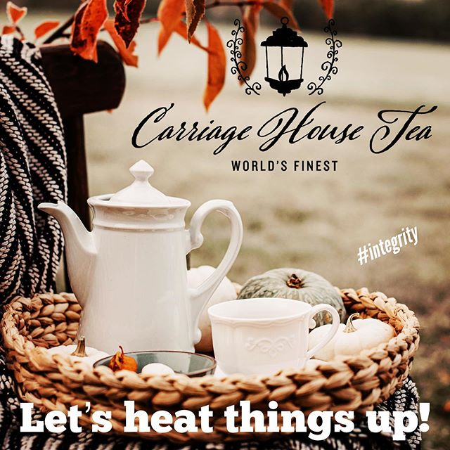 Bring on the cooler temps and heat up the Carriage House Tea!  Don't get caught without your favorite brew to help keep you warm!!! #tea #teabar #looseleaftea #cupoftea #tinoftea #heatingthingsup #autumn #integrity #worldsfinest #carriagehousetea #asheboro #nc