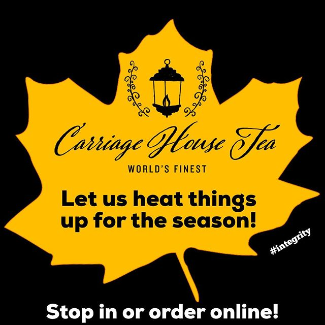 Say no more! We can take care of your tea needs in person at our tea shop, at our tea bar, or through online ordering!  We are here for you!  #tea #teabar #looseleaftea #heatthingsup #autumn #fall #stopin #onlineshopping #integrity #worldsfinest #carriagehousetea #asheboro #nc #theheartofnc
