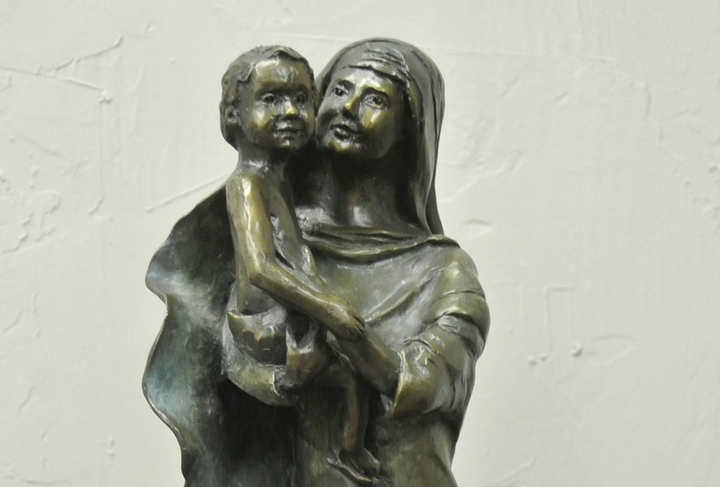 Mother and Christ Child | 2016  This is part of a collectable maquette series, with available editions.