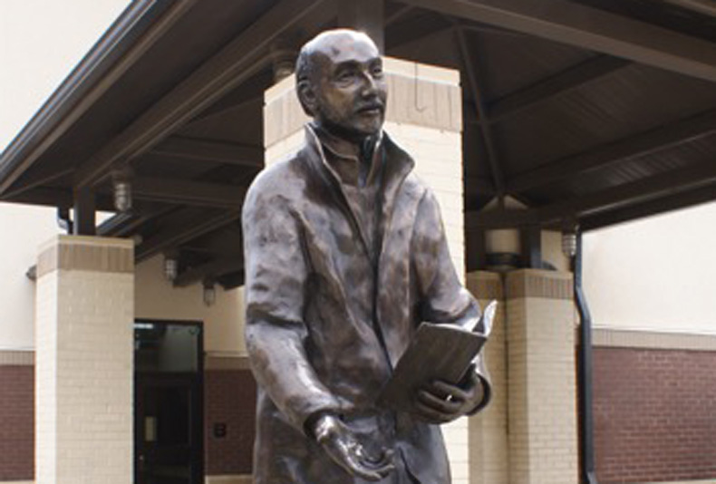 St.Ignatius | 2016  This life-size bronze is at the University of San Francisco.